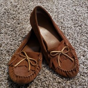 Lucky Brand Brown Leather Moccasins Size 10